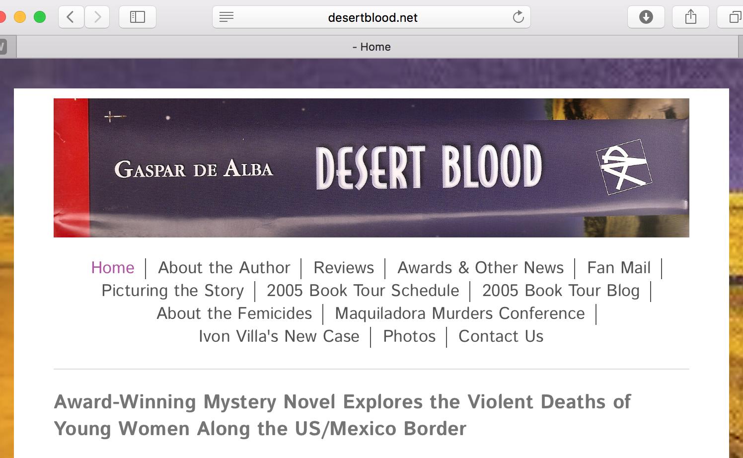 Morermation At Desert Blood Website At Desertblood
